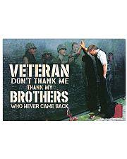 vietnam veteran dont thank me poster 17x11 Poster front