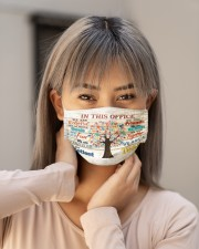 counselor this office tree mas Cloth Face Mask - 3 Pack aos-face-mask-lifestyle-18