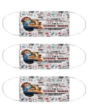 cant stay school nurse Cloth Face Mask - 3 Pack front