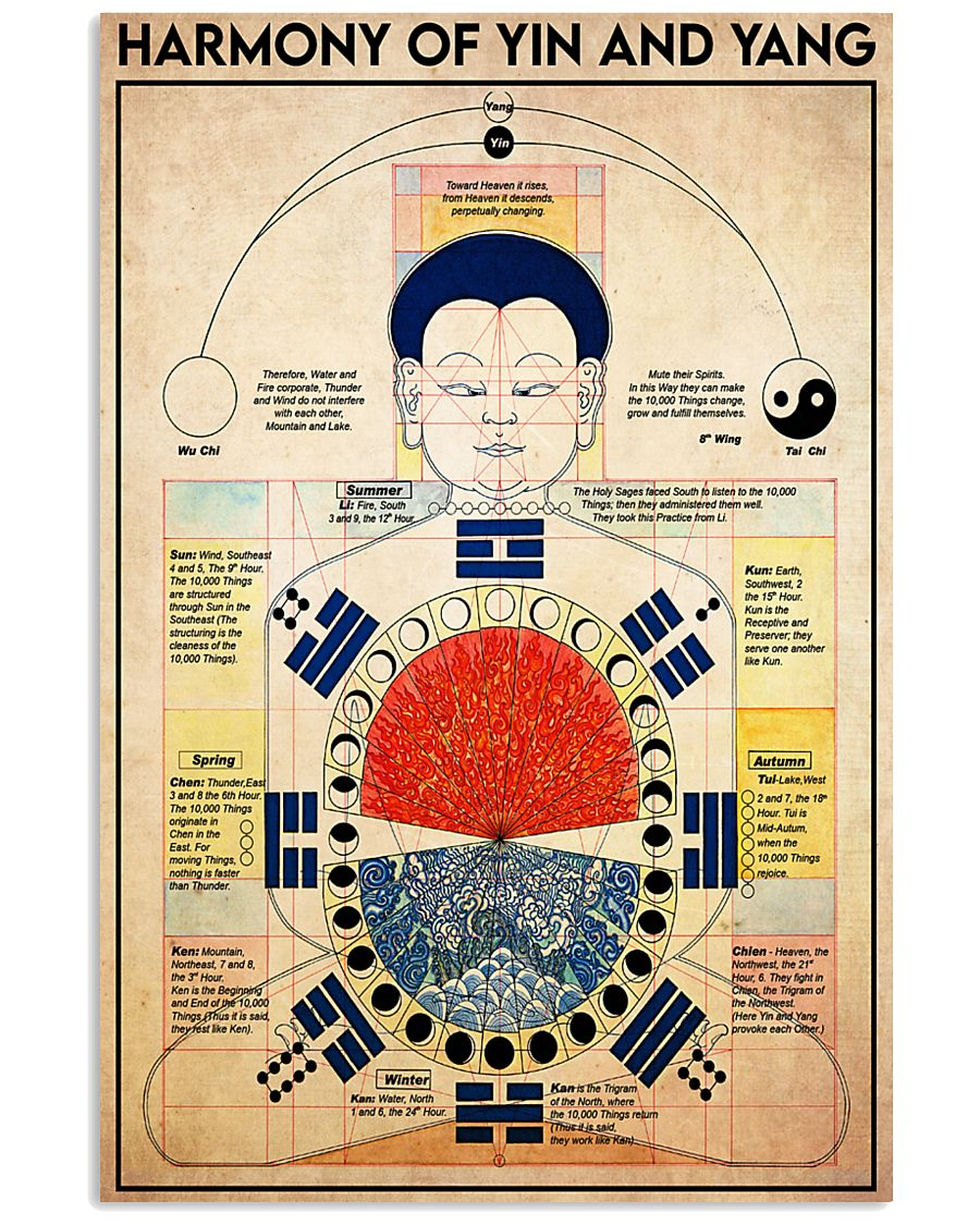 yin yang harmony 24x36 Poster