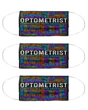 Optometry Typo Cloth Face Mask - 3 Pack front