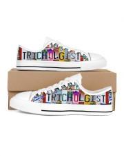 shoe plate trichologist Men's Low Top White Shoes inside-left-outside-left