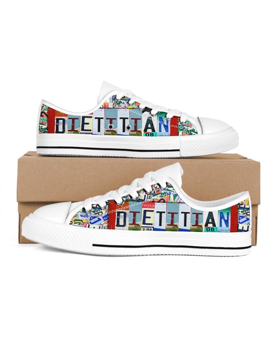 shoe plate dietitian Men's Low Top White Shoes