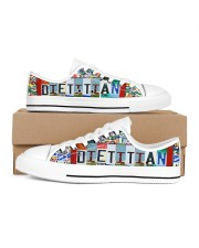 shoe plate dietitian Women's Low Top White Shoes thumbnail