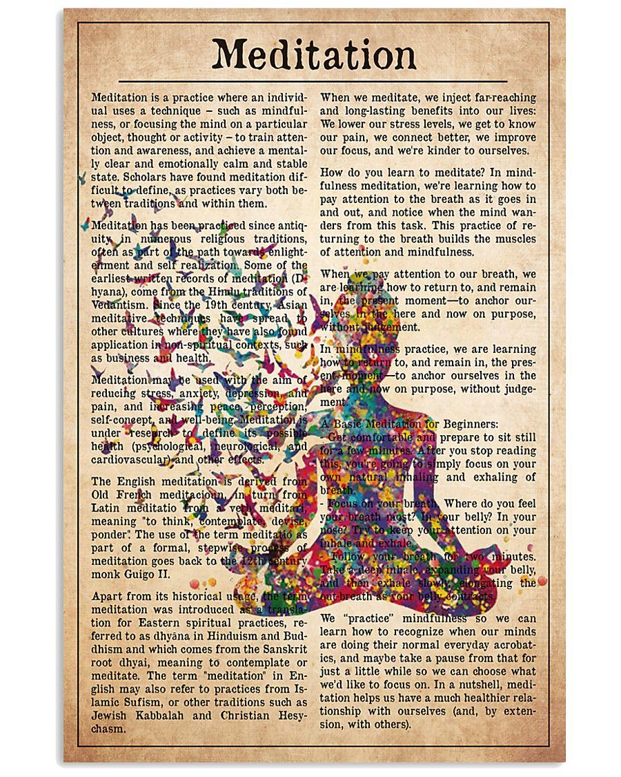 meditate-text 11x17 Poster