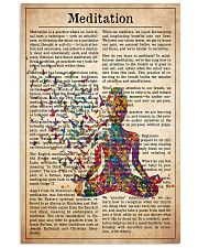 meditate-text 11x17 Poster front