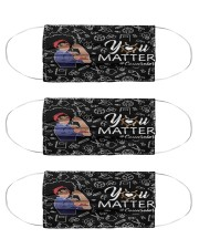 schoolcounselor matter mask bk  Cloth Face Mask - 3 Pack front
