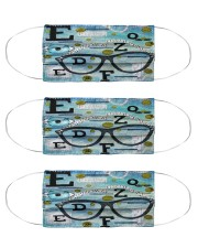 Eye quilt mas Cloth Face Mask - 3 Pack front