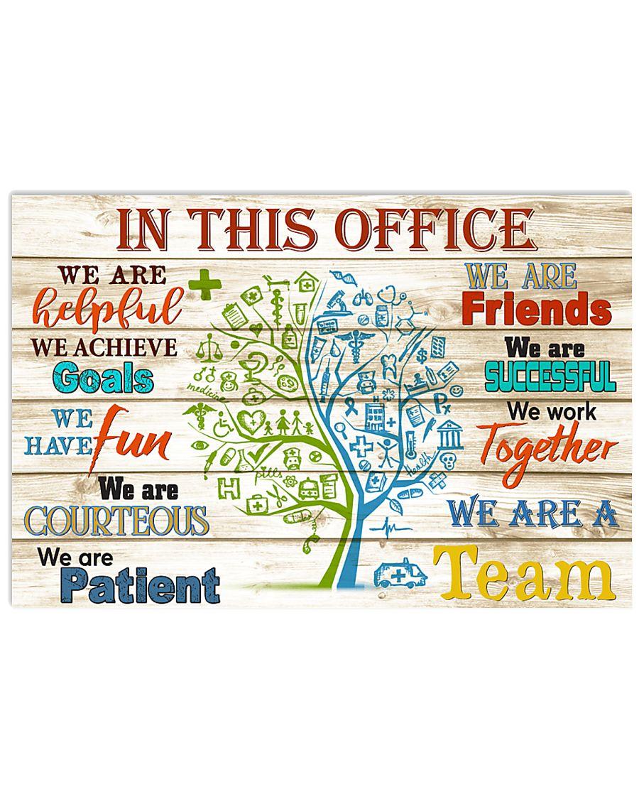 this office tree nurse 17x11 Poster