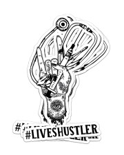 Sticker Hustler LIVES Sticker - 4 pack (Vertical) front