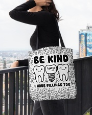 tote dentist fillings tote All-over Tote aos-all-over-tote-lifestyle-front-05