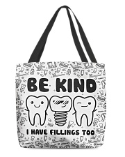 tote dentist fillings tote All-over Tote front