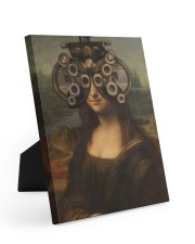 mona-phoropter Easel-Back Gallery Wrapped Canvas tile
