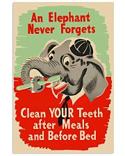 elephant clean teeth 11x17 Poster front