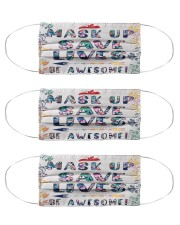 Mask up save lives Cloth Face Mask - 3 Pack front