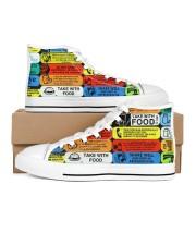shoe-pharmacy label Men's High Top White Shoes thumbnail