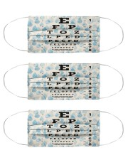 eye chart-close-pattern 2l Cloth Face Mask - 3 Pack front