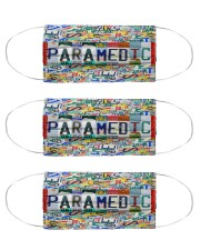 plate mask paramedic Cloth Face Mask - 3 Pack front