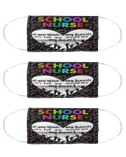 Hand full school nurse Cloth Face Mask - 3 Pack front