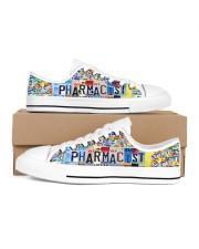 pharmacist plate Men's Low Top White Shoes inside-left-outside-left
