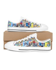 pharmacist plate Men's Low Top White Shoes inside-right-outside-right