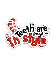 teeth-style-sticker Sticker - 6 pack (Horizontal) front