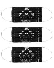 close eyechart bl mas  Cloth Face Mask - 3 Pack front