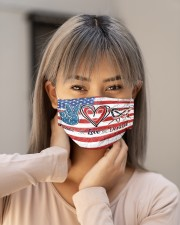 peace flag mask dentist Cloth Face Mask - 3 Pack aos-face-mask-lifestyle-18