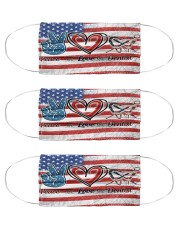 peace flag mask dentist Cloth Face Mask - 3 Pack front