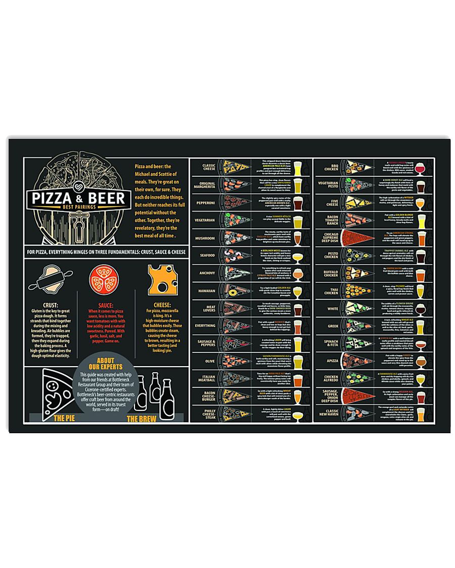 Pizzza and beer paring 24x16 Poster
