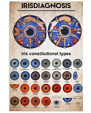 iridology knowledge 11x17 Poster front