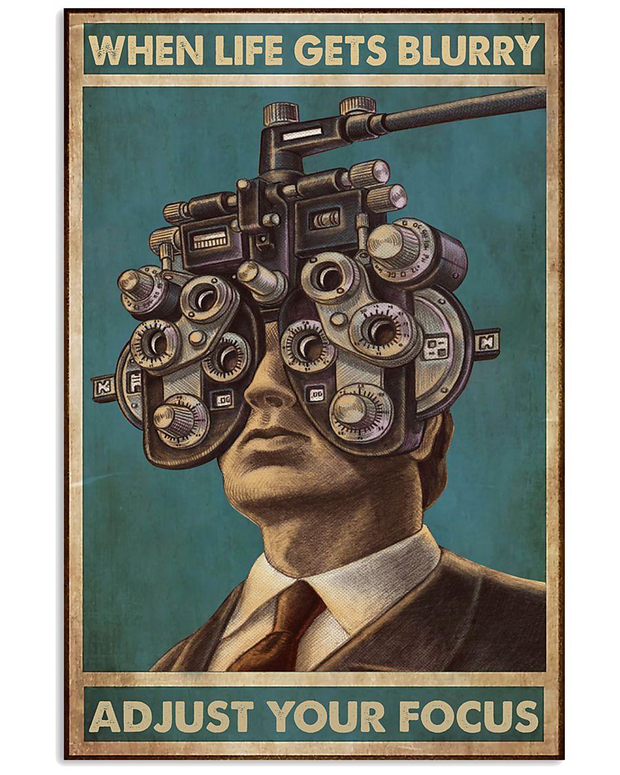 optometrist blurry focus 24x36 Poster