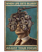 optometrist blurry focus 24x36 Poster front