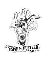 sticker smile hustler Sticker - 6 pack (Vertical) front