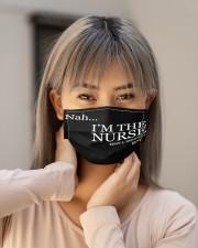 black nah im the nurse mas Cloth Face Mask - 3 Pack aos-face-mask-lifestyle-18