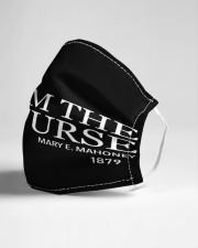 black nah im the nurse mas Cloth Face Mask - 3 Pack aos-face-mask-lifestyle-21