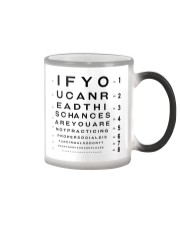 eyechart understand  Color Changing Mug tile