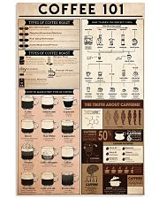 coffee knowledge 24x36 Poster front