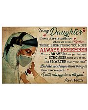nurse to my daughter 17x11 Poster front