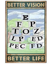 eye chart 24x36 Poster front