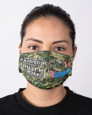 veteran patriotism offend me more mas Cloth Face Mask - 3 Pack aos-face-mask-lifestyle-01