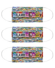 plate mask neurology Cloth Face Mask - 3 Pack front