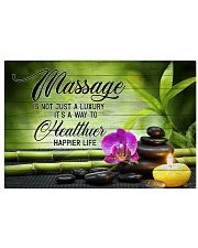 massage therapy is not just a luxury 17x11 Poster front
