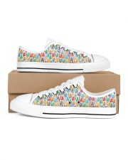 dentist pattern shoe Men's Low Top White Shoes inside-right-outside-right