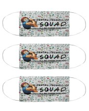squad mask dental technician Cloth Face Mask - 3 Pack front