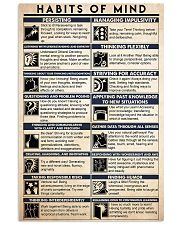 counselor habits mind 16x24 Poster front