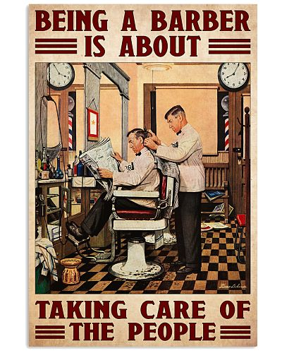 Barber taking care