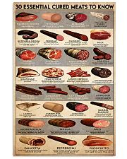 cured meat 24x36 Poster front
