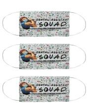 squad mask dental assistant Cloth Face Mask - 3 Pack front