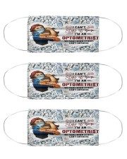 can't stay optometrist  Cloth Face Mask - 3 Pack front